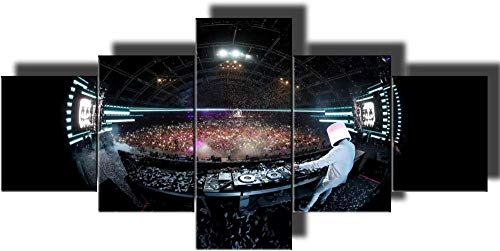 PUHAHA® Leinwand malerei DJ Music Concert Party Club 150x100cm Wandkunst Malerei HD Gedruckt Leinwand Poster Leinwand Malerei Für Wohnzimmer HD Drucke Poster Bilder Wand Moderne Malerei Auf Leinwand W