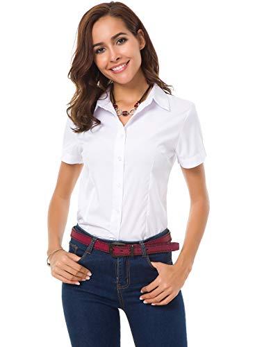 Womens Button Down Shirt Short Sleeve