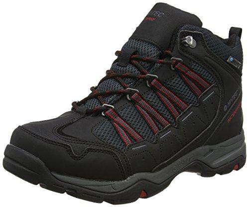 HI-TEC Forza Lite Mid Waterproof, Chaussures de Randonnée Hautes Homme, Noir (Black/Red), 42 EU