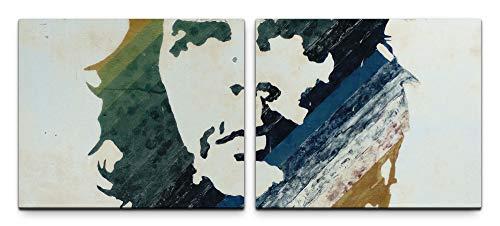 SIN-US 74 Che Guevara Bild Leinwand fertig auf Rahmen 2 Bilder a 50x60cm
