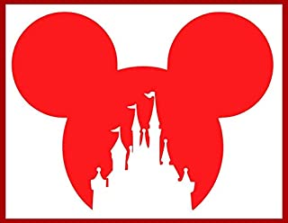 Disney Mickey Head Castle Cut Out Iron-On Transfer Image Graphics for T-Shirts, Pillowcases, Bags, Party Favors, DIY Projects