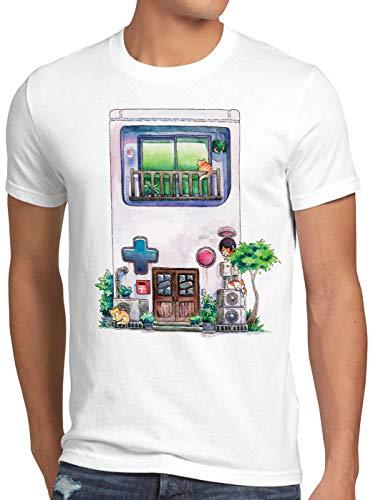 style3 Game Mansion Camiseta para Hombre T-Shirt Pixel Boy 8bit casa Japonesa, Talla:XL