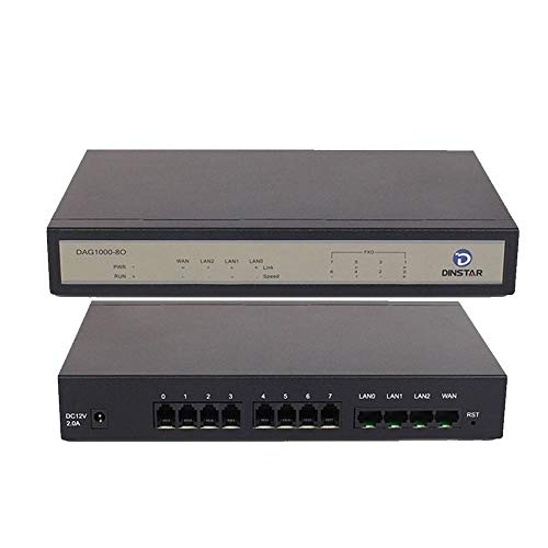 Dinstar DAG1000-8O 8 FXO Ports Analog VoIP Gateway