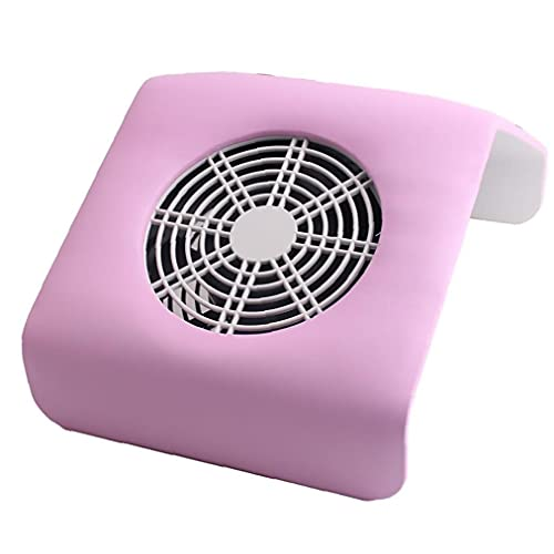Hiinice Máquina colector de Polvo de uñas con Filtro Potente máquina de uñas Aspirador para acrílico Clavo Poly Nail Extension Eliminación de Gel Rosa estándar de la UE