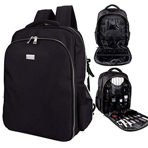 NADAENMF Barbershop Travel Backpack Computer Bag Laptop Backpack Unisex Portable Salon Hair Tools Bag Cosmetic Organizer with Scissors Holder Holder,