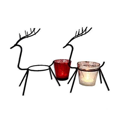 Créatif Moderne Simple Elk De Noël en Fer Forgé Chandelier en Métal Artisanat Décoration De La Maison Bougeoir Décoration