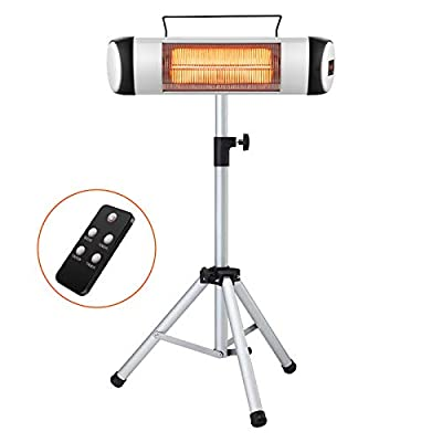 Kismile Outdoor Electric Patio Heater,Indoor Infrared Heaters,Wall-Mounted Space Heater with Fast Heating & Remote Control for Large Room, Garage