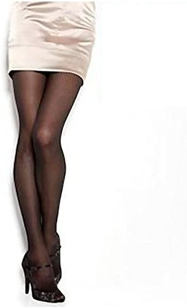 Hanes Silk Reflections Fashion Tights - Geo Net Texture w/Control Top (Nude)