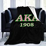 Trikahan Alpha Kappa Alpha 1908 Sherpa Fleece Blanket Ultra Soft and Cozy Throws (50'x40'/60'x50'/ 80'x60') for Couch Bed