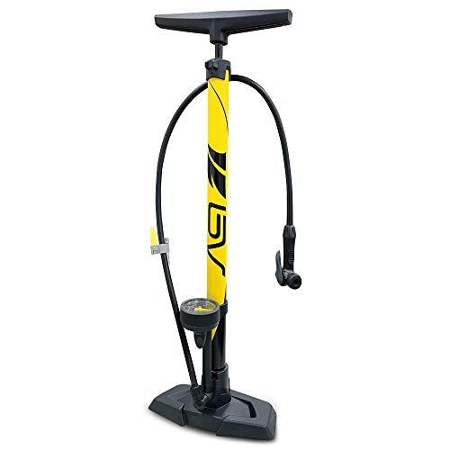 BV(ビーブイ) 自転車 空気入れ 自転車 フロアポンプ 仏式/米式/英式 ロードバイク クロスバイク MTB ゲージ付き 空気入れ