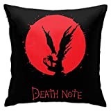 smartgood Death Note taie d'oreiller décorations pour la Maison coloriage Artisanat kit taie d'oreiller carré 45X45 cm