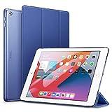 ESR iPad 8 ケース 2020 iPad 10.2 ケース 第7世代 2019 半透明 薄型 軽量 傷防止 オートスリープ ウェイク 三つ折りスタンド スマートケース iPad 10.2インチ ハードカバー ネイビーブルー