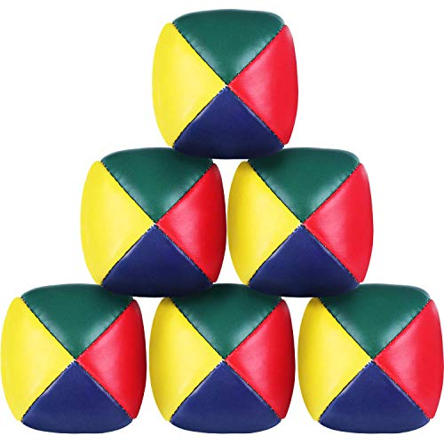 DILISEN Juego de 6 Piezas de Pelotas de Malabares para Principiantes, Mini Bolas de Malabares de Calidad, Durable, Suave para Niños Niñas y Adultos, Multicolor