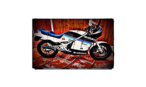 1984 rg250 gamma Fiets Motorfiets A4 Foto Print Retro Verouderde Vintage