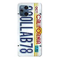 OPPO Find X3 Pro ケース OPG03 ハードケース [薄型/耐熱/全面印刷] Numberplate (ホワイト) オッポ スマホケース スリム CollaBorn Oilshock Designs (オイルショックデザインズ)