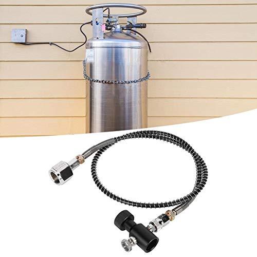 ?å? Soda Slangadapterkit, DIN477 36 tum metall + galvanisering + polyuretanfjäderslang galvaniserad CO2-adapterkit med frigöringsventil svart ASA för Soda Stream