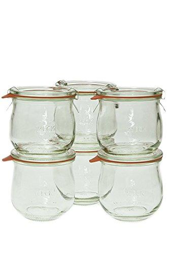 Weck 746 1/5 Liter Tulip Jar, 12.5 Oz - Set of 6