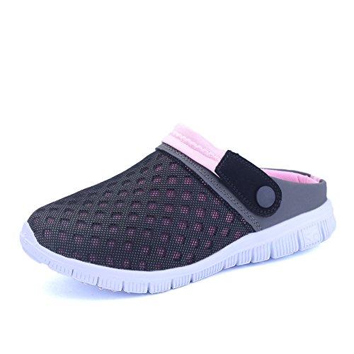 WANPUL - Zapatos antideslizantes transpirables para verano, zapatos de exterior, pantuflas para hombre y mujer, Rosa (rosa), 36 EU