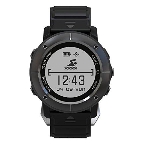 Makibes upg06 GPS reloj deportivo Múltiples deportes reloj inteligente posicionamiento GPS Tracker Triple Monitor de frecuencia cardiaca Bluetooth aiwako bt4.2 brújula atimeter SMS Sleep Monitor Para