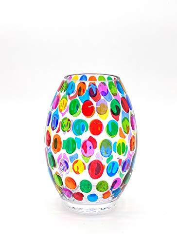 Vase à bulles 200 peint à la main en verre de Murano style Venise