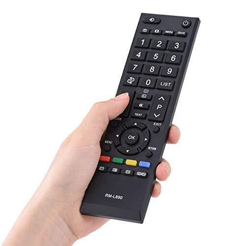 Richer-R Ersatz Fernbedienung, Toshiba Universal Fernbedienung Smart Remote Controller,Verschleißfest Fernseher Universalfernbedienung für Toshiba LCD TV Schwarz
