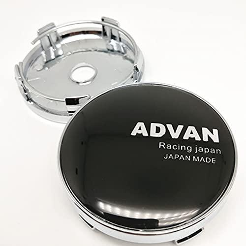 BAQIU 4pcs 60mm Auto Wheel Center Hubcaps para ADVAN Racing Japan Car Styling Llantas Cubierta de Cubo Emblema de Tapa