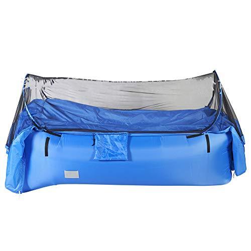 KEKE Tragbares Zelt Aufblasbares Sofa, Mit Moskitonetz Outdoor Sofa Für Camping-Stuhl Park Strand Hinterhof,Blau