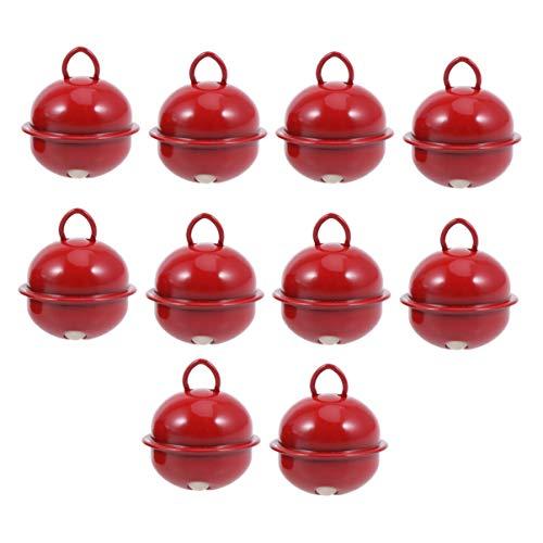 IMIKEYA 100 Piezas Cascabeles Metal Colores para Navidad Accesorio de Manualidades Decoración para Árbol de...