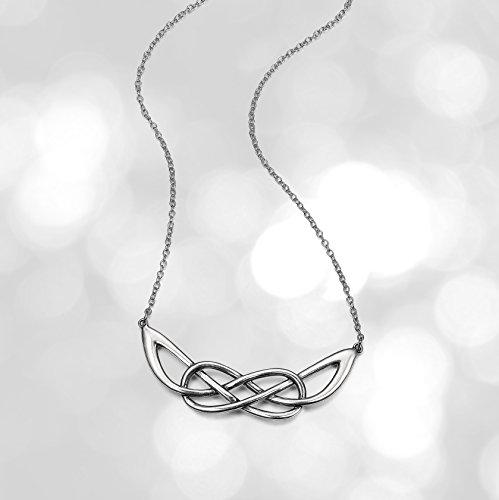 Sterling Silver Oxidized Celtic Infinity Knot Necklace, 18'
