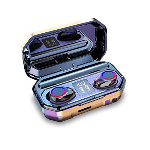 Binauraal LED-power-display met bluetooth headset Touch 5.0 binaurale high-definition oproepen, 9D-geluidseffect: Quad-Core-geluid, hiFi-high-fidelity smart-Touch-automaat