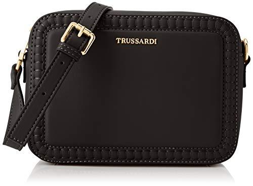 Trussardi Jeans Shoulder, Tokyo Camera Bag Embroided Eco Donna, Black, Nr