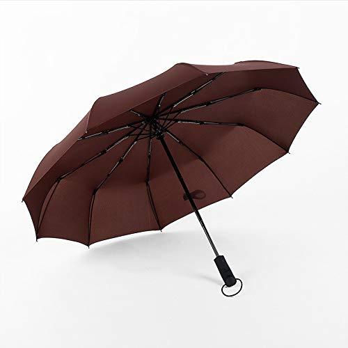 Paraguas 30 pliegues de diez huesos automático lluvia y lluvia paraguas de doble propósito plegable plástico negro sombrilla a prueba de sol