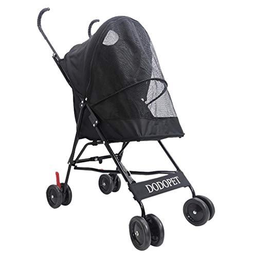 ZPWSNH Standard-Kinderwagen/faltbarer Hunde- und Katzenkinderwagen Haustierautositz (Color : Black)