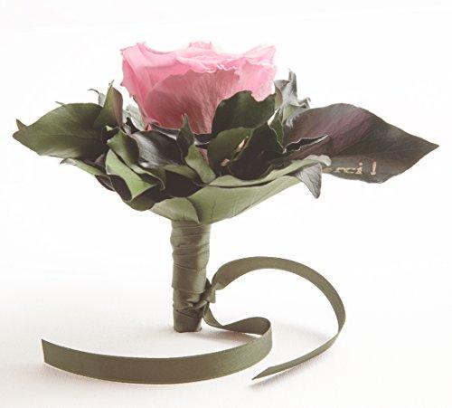 Ewige Rose konserviert Rosenstrauß mit Goldschrift
