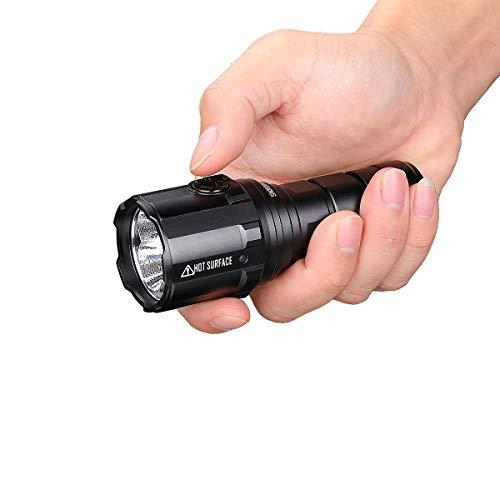 IMALENT Linterna LED R30C, 9000 lúmenes, táctica mini recargable 21700, para camping y senderismo