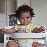 iCradle Reborn Baby Dolls Black Indian African American Toddler Cute Smiling Newborn Babies Best Gift for Birthday