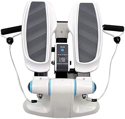 Paso de escalera interior, Ejercitador de pedales, Mini Mini Ejercicio Bike - Oficina, Equipo de casa, Máquina de ejercicios para entrenamiento de cuerpo completo, Monitor de pantalla incorporado