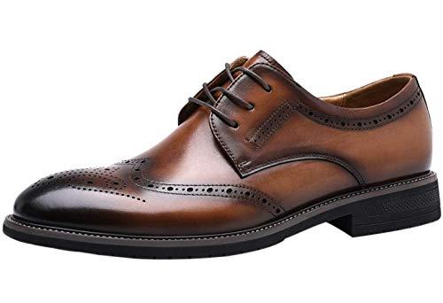 Hombre Brogue Zapatos de Cordones Wing Derby Cuero Casuales Negocio Boda Zapato...