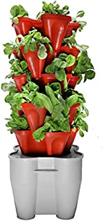 Mr. Stacky Smart Farm - Automatic Self Watering Garden - Grow Fresh Healthy Food Virtually Anywhere Year Round - Soil or Hydroponic Vertical Tower Gardening System (Standard Kit, Terracotta)