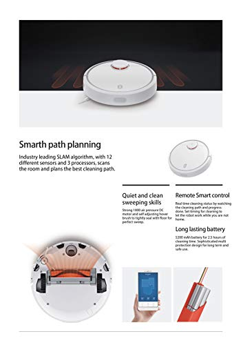 Xiaomi SDJQR02RR - Aspirador Robótico, Autocargado, Súper fuerte succió, Blanco
