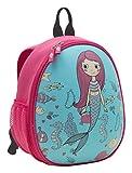 WEDO 2433310 Kinder-Rucksack Meerjungfrau, stabile Frontseite, 2 Netztaschen außen, mehrere Netztaschen innen, gepolsterte Tragegurte, sehr leicht, leicht zu reinigen