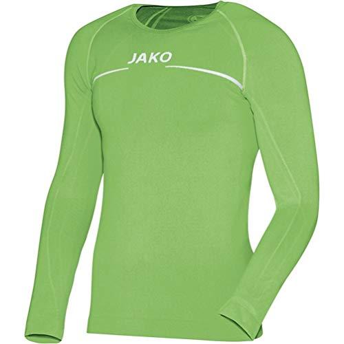 JAKO Langarmshirt Tee-Shirt à Manches Longues Homme, Vert (softgreen), m