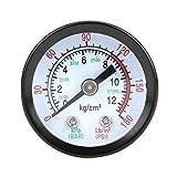 Manómetro para compresor de aire, carcasa de hierro Y40, medidor de presión de 0-180 PSI para compresores de tornillo/compresores de pistón
