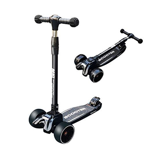 ZCPDP Kids 3 Wheel Push Kick Scooter, LED Light Up Wheels, met Music Car Bottom, Perfect voor kinderen leeftijd 2-12 - Super Sterk Opvouwbaar Ontwerp - Verstelbare Stuur