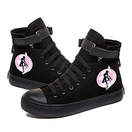 NXMRN Sailor Moon Hombres Y Mujeres Zapatillas De Deporte Graffiti High Pointing Girl Zapatos Casuales Otoño Nuevos Zapatos De Mujer-41