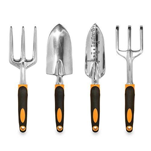 Gardening Tools, Garden Tools, Garden Tool Set, 5 Pieces Kit Gardening Gift Set, with 4 Heavy...