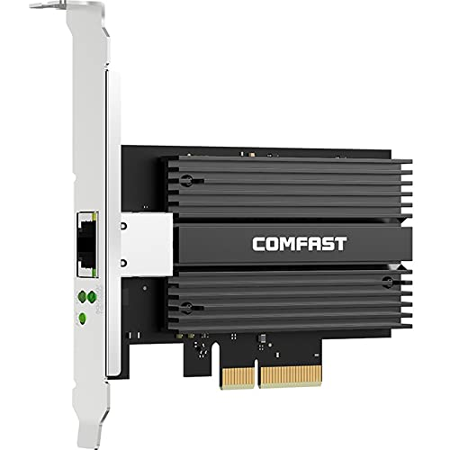 Desktop PCI-E Gigabit Adaptador inalámbrico 10GBPS Ethernet Gaming WiFi Tarjeta de Red de la Tarjeta CF-P100 para Window7 / 8/10 (Color : Black Network Card)