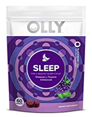 OLLY RESTFUL SLEEP GUMMY: Our melatonin gummies, with L-Theanine and botanicals like chamomile and lemon balm, help boost your natural sleep hormone, encourage a calm feeling, and support a healthy sleep cycle, making it easier for you to fall asleep...