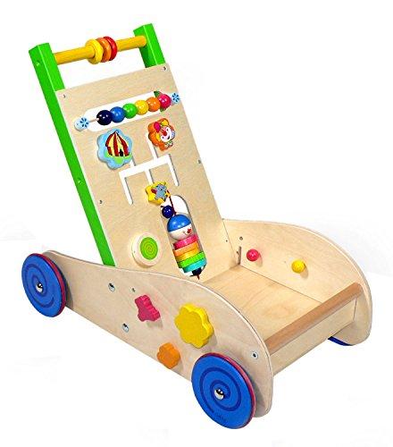 Hess Holzspielzeug 31180 - Andador de Madera con Ruedas de Goma, Hecho a Mano, para bebés y niños pequeños, Aprox. 50 x 45 x 41 cm, para diversión y Aprendizaje sin Preocupaciones