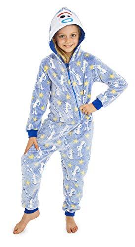 Toy Story Disney 4 Forky Kinder Schlafanzug Einteiler Mit Kapuze und Leuchteffekt, Extra Weiches Kigurumi Cosplay Jumpsuit, Kuschelige Pyjama (7/8, Im Dunkeln leuchten Woody)
